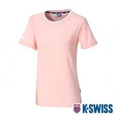 【超取】K-SWISS Ks Logo Crew Neck Tee短袖T恤-女-粉紅