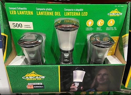 [COSCO代購] C1330827 CASCADE LED 500 LUMEN LANTERN 3PK LED露營燈3入