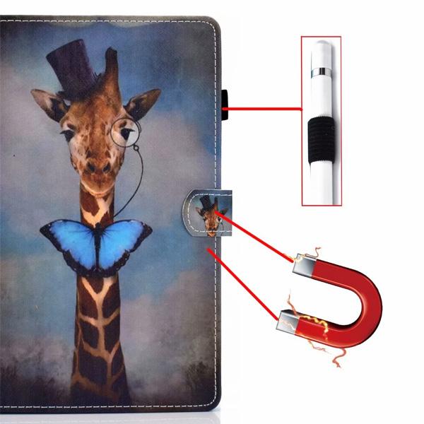 蘋果 iPad 9.7 2017 iPad 9.7 2018 Pro 9.7 Air2 S10彩繪平板皮套 平板皮套 插卡 支架 保護套