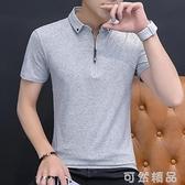 POLO衫夏天男士poluo韓版帥氣短袖T恤丅潮流衣服年輕Polo衫純棉半截袖。