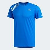 ADIDAS 3-STRIPES 男裝 短袖 慢跑 休閒 反光 吸濕 排汗 藍【運動世界】FK1594