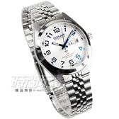 OMAX 時尚質感腕錶 男錶 白x藍 日期/星期顯示 藍寶石水晶鏡面 數字錶 OMAX4004M白藍