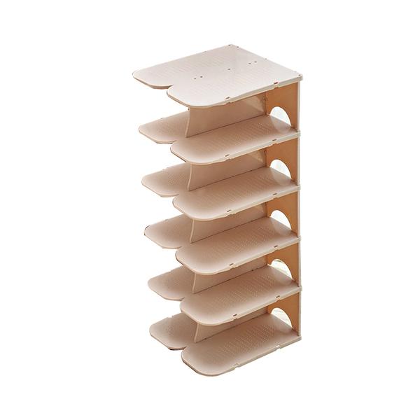 [7-11今日299免運] 六層堆疊鞋架 鞋子收納盒 可拆卸 清洗方便 輕鬆移動 (mina百貨)【F0377】
