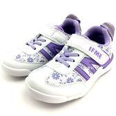 《7+1童鞋》中童 日本 IFME 輕量  機能  運動鞋  C429  白色