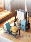 廚房置物架 洗碗海綿刷子瀝水收納架廚房抹布百潔布晾放臺面水槽水池置物架