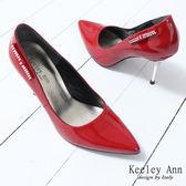 ★零碼出清★Keeley Ann尊寵雅緻~漆皮水鑽裝飾尖頭高跟鞋(紅)