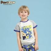 Pawinpaw寶英寶小熊童裝夏季款拼色男童迷彩短袖T恤