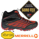 【美國 MERRELL】MOAB FST男GORE-TEX中筒多功能健行鞋 紅色 35743 健行鞋│休閒鞋│登山鞋