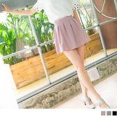 OrangeBear《CA746》後腰鬆緊純色質感打褶設計褲裙.3色--適 2L~7L