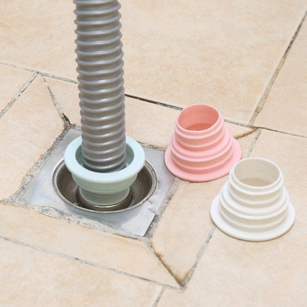 洗衣機排水管密封圈 / 廚房管道下水道密封圈 / 排水口防臭硅膠接頭密封套