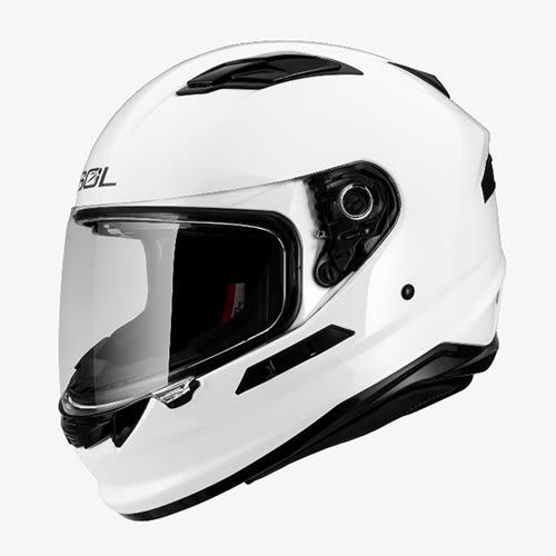 【東門城】SOL SF-6 素色(白) 全罩式安全帽 雙鏡片 內墨鏡