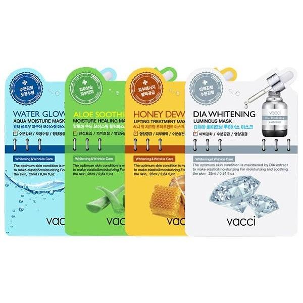 韓國 VACCI 全效保濕面膜(25ml)單片入 款式可選【小三美日】
