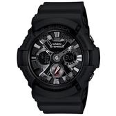 【CASIO】G-SHOCK 最新視覺力作仿輪胎概念雙顯錶(GA-201-1A)
