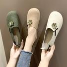 娃娃鞋 女秋季新款花朵平底可愛ins一腳...
