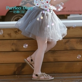 女童紗裙女寶半身裙洋氣嬰寶百褶裙兒童蓬蓬短裙春夏裙 洛小仙女鞋