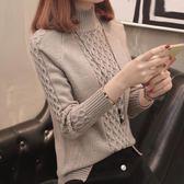 【好康618】長袖針織打底衫毛衣半高領寬鬆百搭加厚