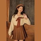 linjou玲玖娃娃領襯衫女長袖短款寬鬆復古甜美上衣新款秋冬厚