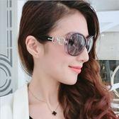 太陽鏡歐美女士高檔玉晶質感太陽眼鏡復古優雅漸變墨鏡