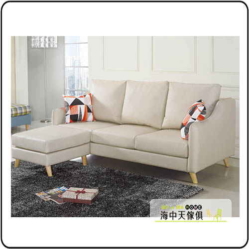 {{ 海中天休閒傢俱廣場 }} G-02  摩登時尚 沙發系列 148-5 沃特斯L型貓抓皮製沙發組