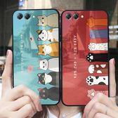 華為手機殼女款華為保護套玻璃殼可愛卡通貓爪全包軟邊創意個性網紅情侶款-可卡衣櫃