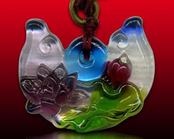 鹿港窯~居家開運水晶琉璃項鍊~蓮花 附精美包裝◆免運費送到家◆