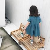 女童裝夏款2021新款洋裝韓版中小童寶寶公主裙子娃娃領洋氣兒童洋裝 米娜小鋪