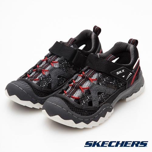Skechers WHIPSAW 黑x炭灰 中大童運動包涼鞋 NO.R2891