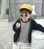 男童秋裝開衫新款韓版休閒針織毛衣中小洋氣百搭上衣 海角七號