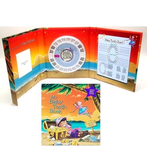 美國進口 Baby tooth album 乳齒保存盒 乳牙保存盒 乳牙盒 乳齒盒 女海盜款(1414) 牙仙子 -超級BABY
