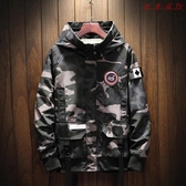【YPRA】男士外套夾克修身休閒薄款迷彩衣