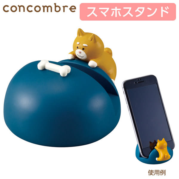 Hamee 日本 DECOLE 貪吃鬼動物 萬用手機座 造型手機架 公仔擺飾 (柴犬) 586-376167