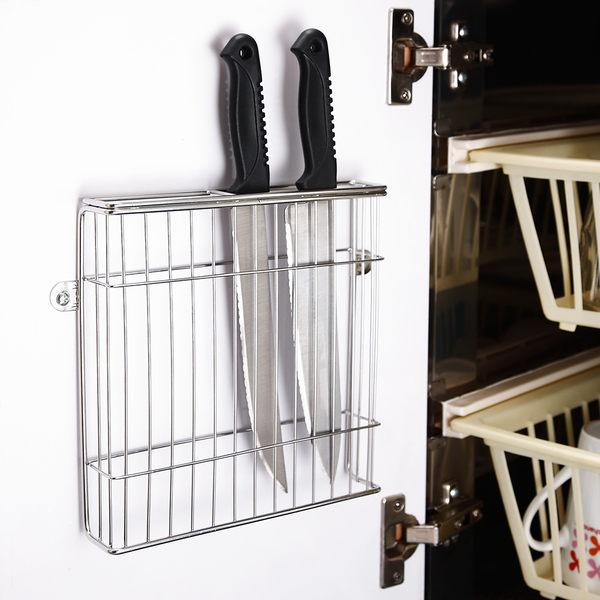 菜刀架 廚房收納【D0029】不鏽鋼壁式門後板刀具架MIT台灣製 完美主義