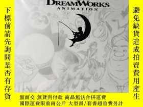 二手書博民逛書店夢工廠的動畫藝術罕見The Art of DreamWorks Animation 設定集手稿原畫素材美術圖冊