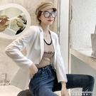 薄款亞麻西裝女2020春夏季新款英倫風休閒百搭棉麻小西服大碼外套 黛尼時尚精品