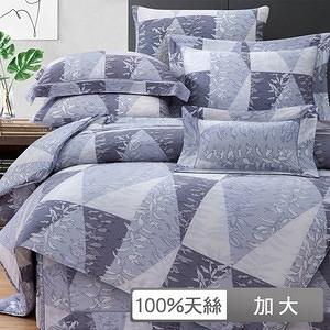 【貝兒】裸睡系列60支天絲兩用被床包組(加大/摩德納)