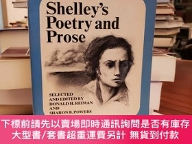 二手書博民逛書店Shelley s罕見Poetry and prose: Authoritative texts, critici