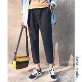 黑色褲子學生春季休閒褲男士韓版流寬鬆直筒九分褲牌男裝 卡卡西