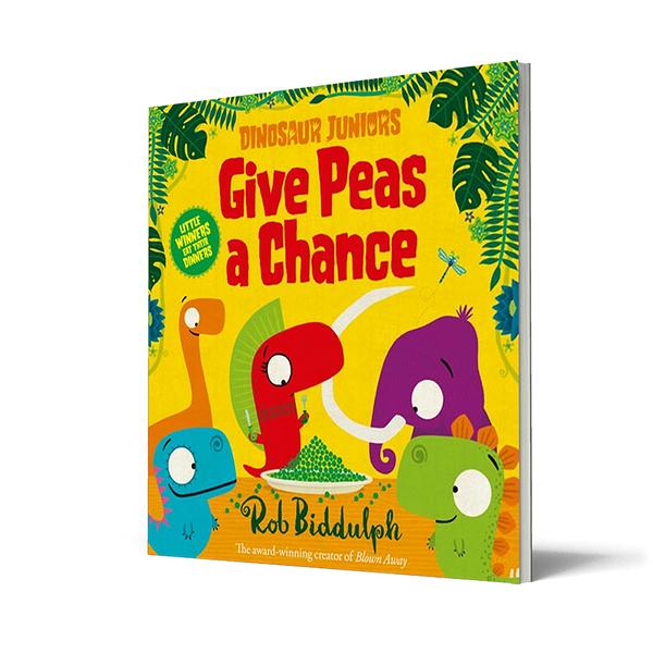 Dinosaur Juniors Give Peas A Chance幽默韻文英文繪本圖畫童書