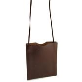 【奢華時尚】HERMES 咖啡色牛皮斜背信封包(八五成新)#25222