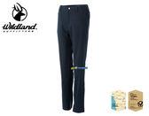 Wildland 荒野 女款日本紗彈性抗UV長褲/休閒褲/登山褲 0A51303-54 黑色