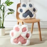 澳尊貓爪靠墊動物卡通羊毛靠墊貓爪抱枕兒童可愛少女心毛絨靠墊粉