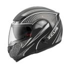 【東門城】ZEUS ZS3300 GG27(消光黑銀) 可掀式安全帽 雙鏡片