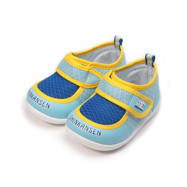 新幹線 黏帶學步鞋 水藍 中小童