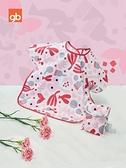 兒童罩衣 嬰兒寶寶吃飯罩衣男女兒童短袖圍兜反穿衣兒童防水飯兜 WW