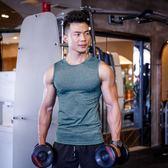 【618好康又一發】男士訓練修身無袖運動坎肩速干t恤