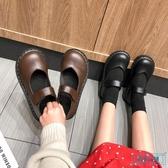 大頭鞋 ins小皮鞋女2019春季新款英倫風復古平底單鞋淺口瑪麗珍鞋大頭鞋 歐米小鋪