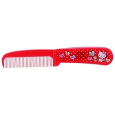 小禮堂 Hello Kitty 塑膠折疊梳 隨身梳 手握梳 折梳 扁梳 (紅 愛心) 4973307-47041