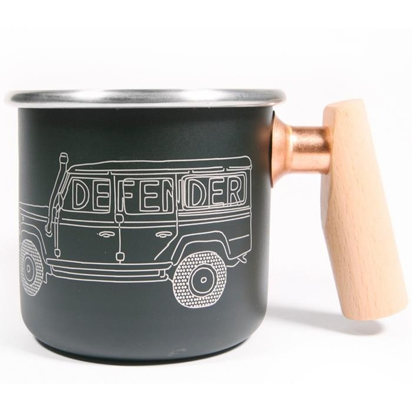 『VENUM旗艦店』Truvii 木柄白鐵杯 吉普車系列 Defender 400ml 黑色
