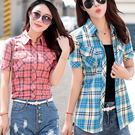 純棉修身雙口袋格紋襯衫 14色 M-3XL碼【BC13014】