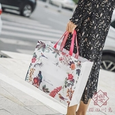 10個裝 無紡布禮品袋時尚高檔手提袋環保防水【櫻田川島】
